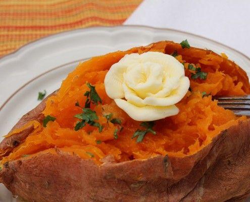 Sweet potato decor butter flower Photo