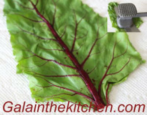 Photo Russian stuffed beet leaves recipe step 2