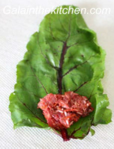 Photo Russian stuffed beet leaves recipe step 3