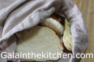 Stale Bread in Linen Bag Photo