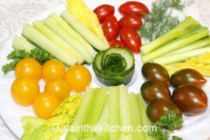 Garnish from Cucumber Photo