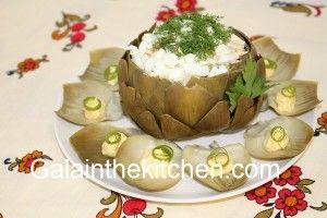 Artichoke Stuffed with Russian Salad photo