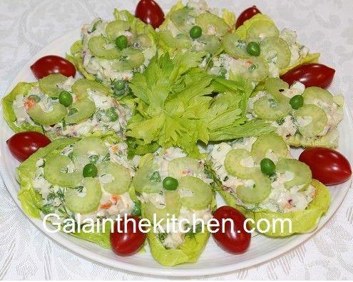 Photo Russian Salad Oliver Stuffed Lettuce