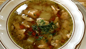 Russian Fish Soup with Salmon