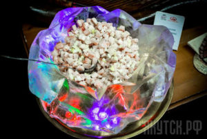 Photo Indigirka Russian Salad With Raw Fish