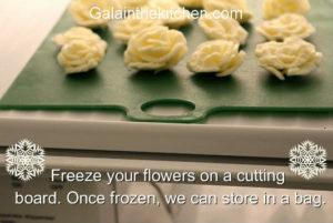 Photo Butter Garnish Flower in Freezer
