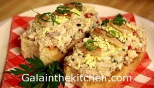 Crab Meat Salad on Toast