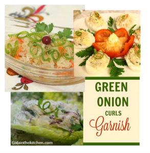 Photo How to make Green Onion Curls Garnish 1