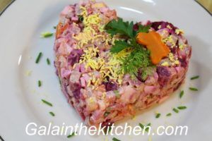 Photo Russian Meat and Beets Vinaigrette Salad Photo