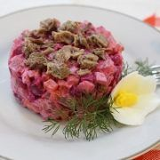 Photo Russian Meat and Beets Vinaigrette Salad Photo