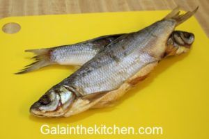 Russian Vobla Dry Salted Fish Photo