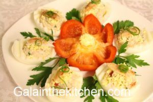 Stuffed Eggs with Crab Meat