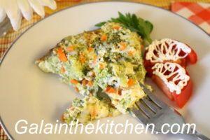 Broccoli and carrot casserole