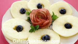 Garnish Rose from Orange Peel (Apple)