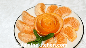 Garnish Rose from Orange Peel (Tangerine)