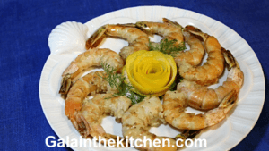 Garnish Shrimp from Lemon Peel Photo