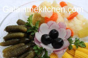 Garnish with olives
