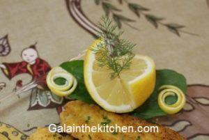 Decorative Lemon Garnish Photo