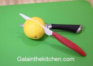 Fancy Garnish from Lemon Step 1 Photo