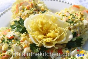 Photo 2 How to Make Flower From Chinese Cabbage Napa