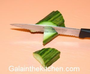 Garnish from cucumber step 2 Photo
