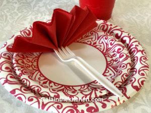 Photo Paper napkin fan
