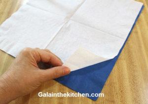 Photo Paper napkin folding Pocket Step 1
