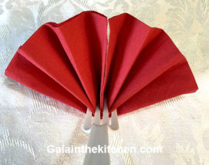 Photo Table party decoration fan from napkin