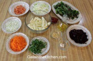 Vegetarian borscht recipe Ingredients Photo