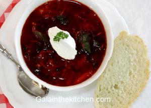 Soup with Beets - Borscht Vegetarian Photo