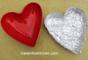 Heart plate from foil photo