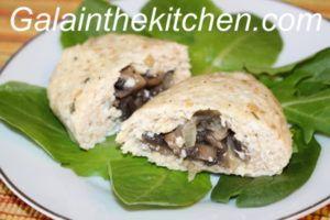 chicken patties with mushrooms photo