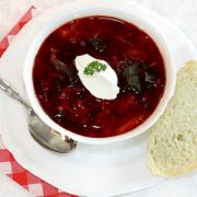 Vegetarian borscht recipe Photo