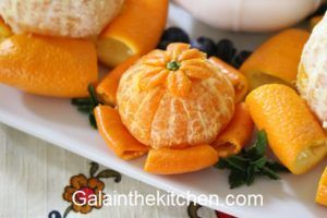 Fancy Serving Tangerine. Photo
