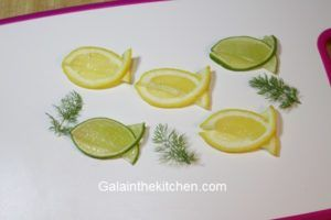 Photo Fish Shape from Lemon and Lime