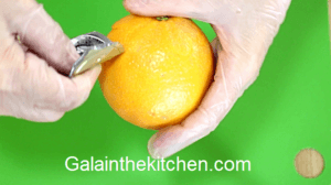 How to make flower from orange. Photo Step 1