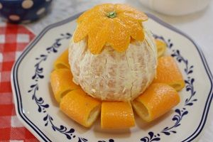 How to serve fancy orange for party. Photo
