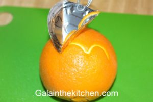 Orange garnish. Photo