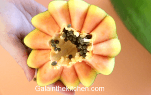 Papaya Flower Handmade Garnish Tool. Photo