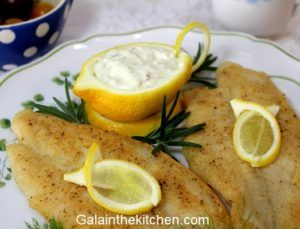 Photo Sauce Dish from Lemon with Tartar Sauce