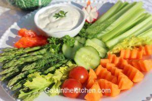 Vegetables garnish made with handmade garnish tool. Photo