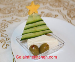 Christmas tree from cucumber Photo