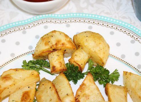 Potato Mushroom Garnish for Baked Potato photo
