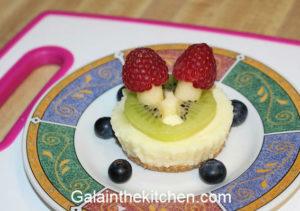Photo Raspberry Mushroom Garnish for kids photo