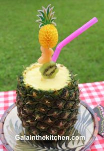 Photo  Serving Beverage in Pineapple with Norpro Slicer