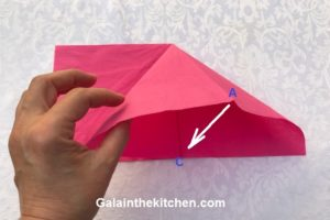 Photo How to fold paper napkin step 2