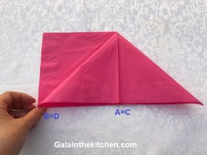 Photo How to fold paper napkin step 3