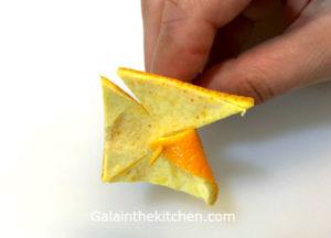 Photo How to make pinwheel from orange 3