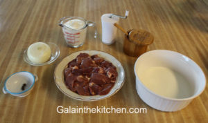 Photo Ingredients for Russian chicken liver with onion