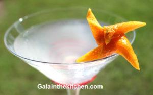 Photo Pinwheel garnish from orange